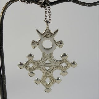 Agadez Tuareg Cross Pendant Necklace (Indonesia)