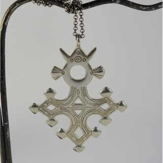 Agadez Tuareg Cross Pendant Necklace (Indonesia)