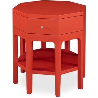 Somerton Dwelling Improv in G Red Octagon Accent Table
