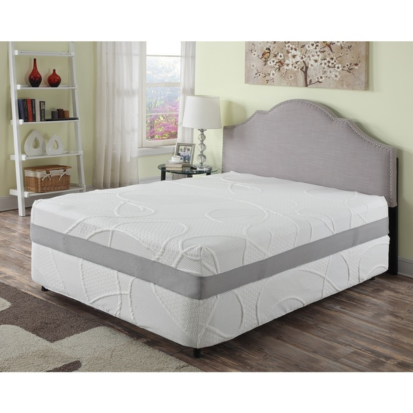 Herbacoal 12-inch California King-size Memory Foam Mattress