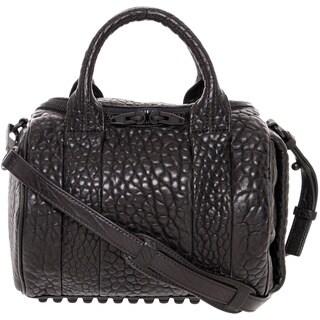 Alexander Wang 'Rockie' Black Textured Leather Satchel