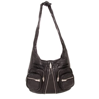 Alexander Wang 'Donna' Black Lambskin Hobo Bag