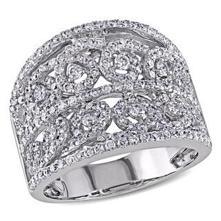 Miadora 14k White Gold 1 1/2ct TDW Diamond Ring (I-J, I1-I2)