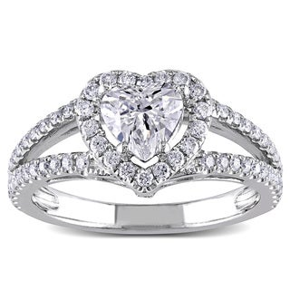 Miadora 14k White Gold 1 1/4ct TDW Diamond Engagement Ring (G-H, SI1-SI2)