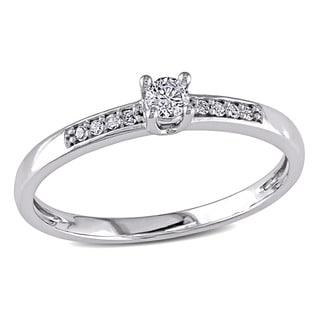 Miadora 10k White Gold 1/6ct TDW Diamond Promise Ring (H-I, I2-I3)