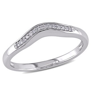 Miadora 14k White Gold Diamond Accent Wedding Band (G-H, I1-I2)