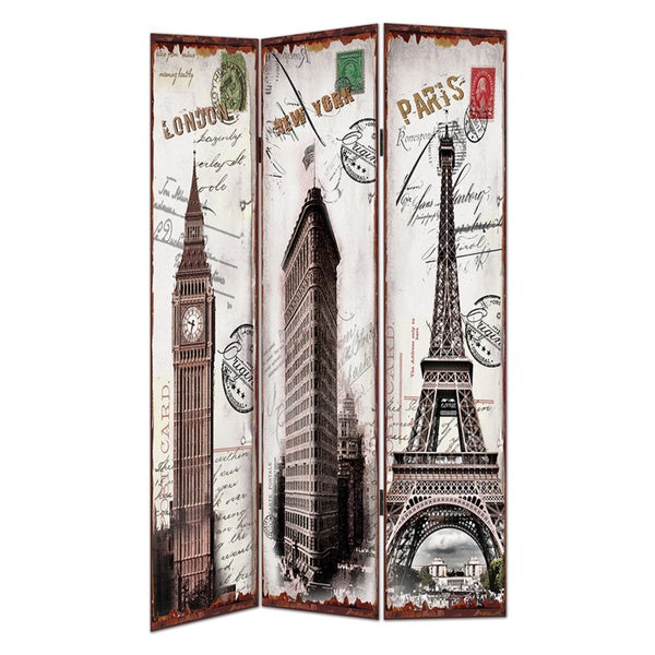 Tourist Spot Canvas Room Divider