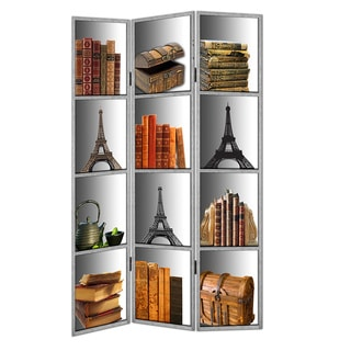 Library Themed Canvas Room Divider
