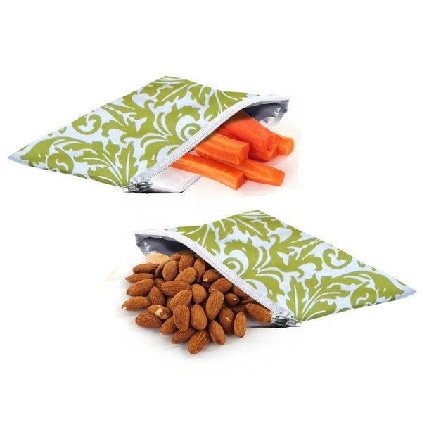 Itzy Ritzy Mini Reusable Snack & Everything Bags (Pack of 2)