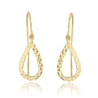 Mondevio 14k Yellow Gold Teardrop Dangle Earrings