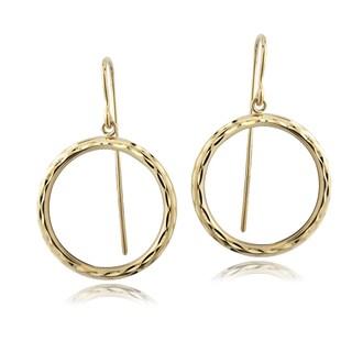 Mondevio 14k Yellow Gold Circle Dangle Earrings