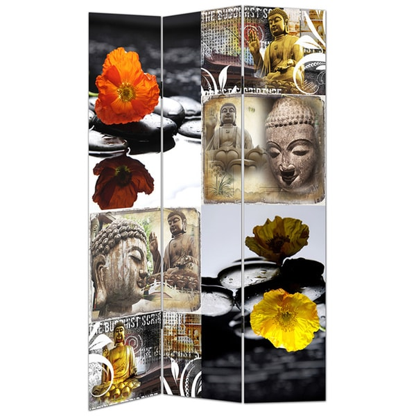 Buddha Canvas Room Divider