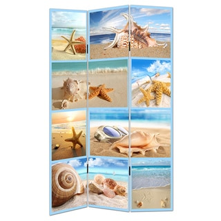 Sea Shells Canvas Room Divider