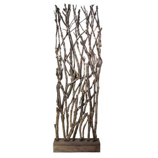 Wooden Branch Room Divider