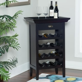 Powell Black with Merlot Wine Cabinet