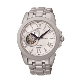 Seiko Men's SSA241 Le Grand Sport Stainless Steel Automatic Semi-skeleton Watch