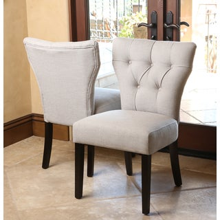 ABBYSON LIVING Bennet Light Grey Fabric Dining Chairs (Set of 2)