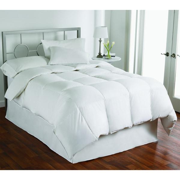 LC Classics 350 Thread Count Dobby Stripe White Down Comforter
