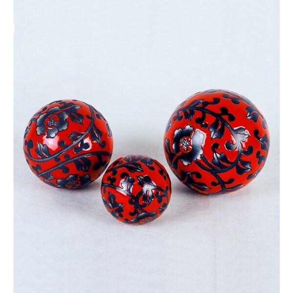 Small Floral Ceramic Sphere