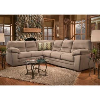 Bristol Cobblestone Microsuede 2-piece Sectional