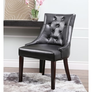 Abbyson Living Sara Black Leather Dining Chair