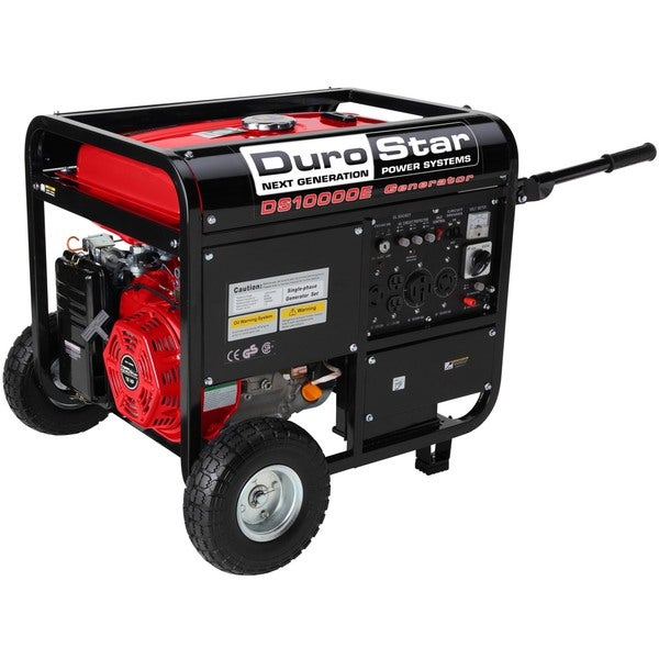 DuroStar 10,000 Watt 16.0 HP Gas Generator w/ Electric Start and Wheel Kit. CARB Approved