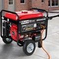 DuroStar 4400 Watt 7.0 HP Air Cooled OHV Gas Generator w/ Electric Start and Wheel Kit