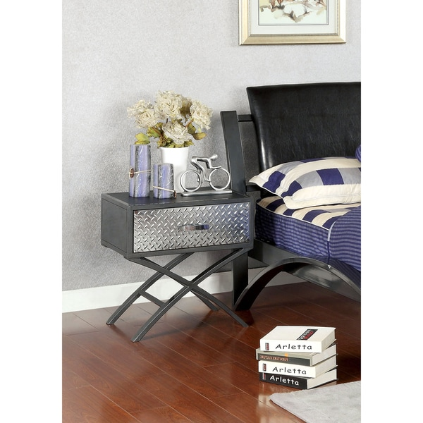 Furniture of America Liam Metal 1-drawer Youth Nightstand - 16610570 ...