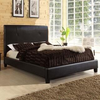 Haagen Dark-Brown Upholstered Modern Bed