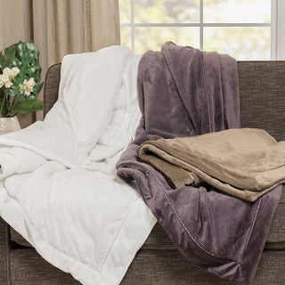 Madison Park Elegance Plush Throw Blanket