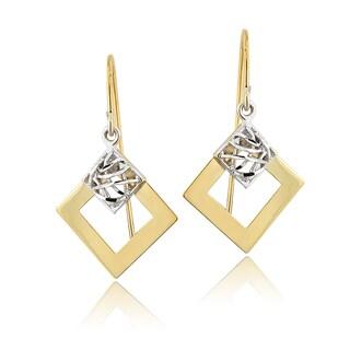 Mondevio 14k Two-tone Gold Dangle Earrings