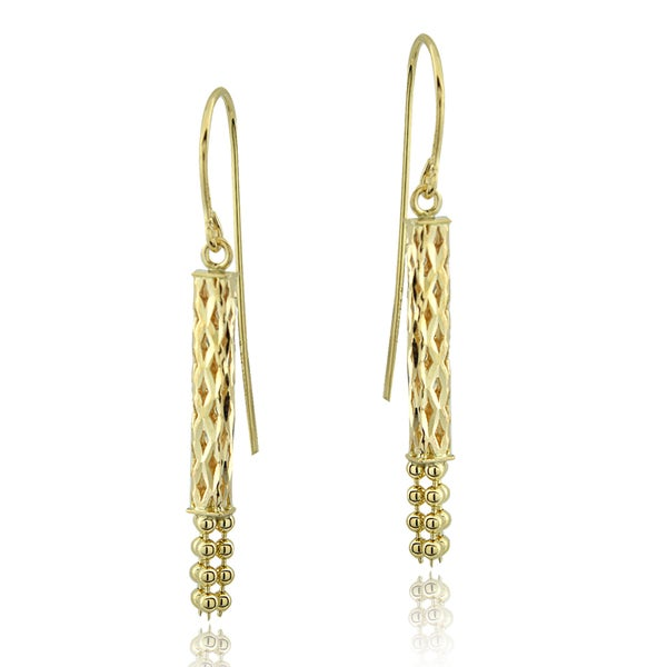 Mondevio 14k Yellow Gold Tassel Dangle Earrings
