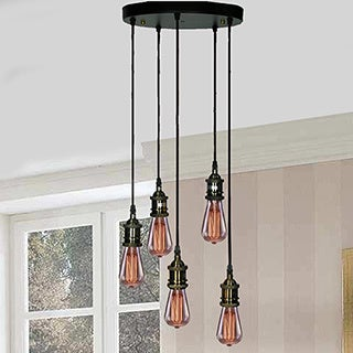 Tanya 5-light Adjustable Cord Edison Lamp