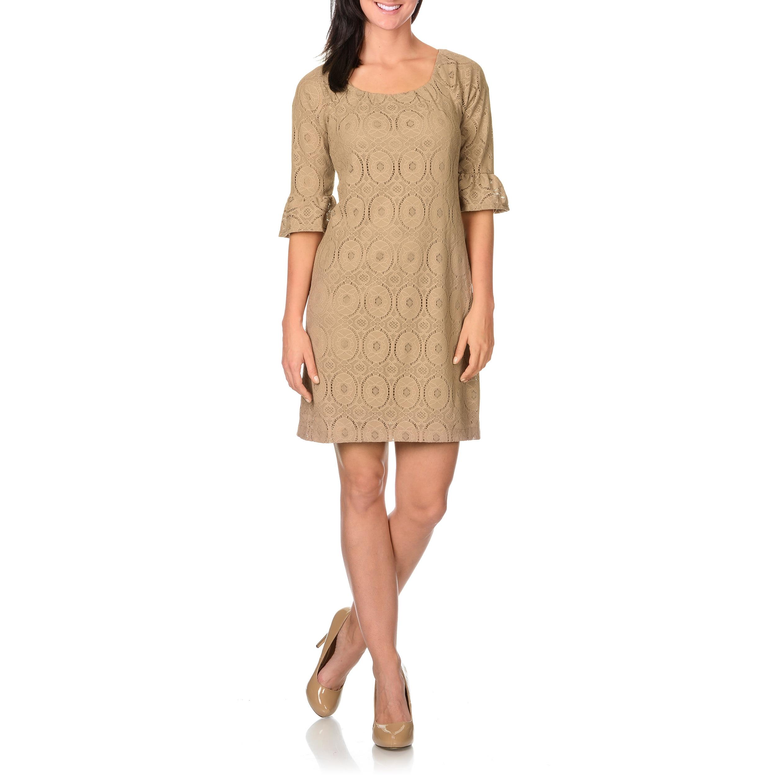 Overstock.com Rabbit Rabbit Rabbit Designs Women's Camel Lace Dress at Sears.com