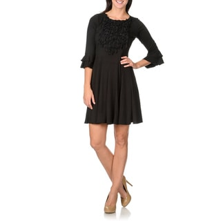 Rabbit Rabbit Rabbit Designs Women's Black Float Dress
