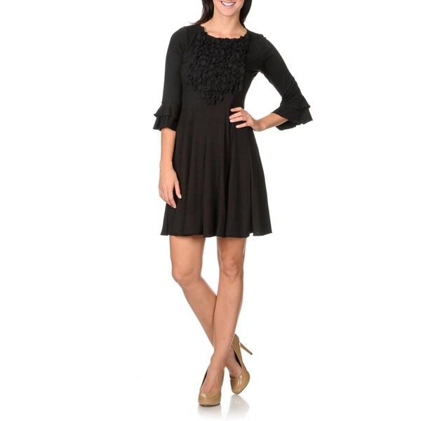 Rabbit Rabbit Rabbit Designs Women's Black Float Dress