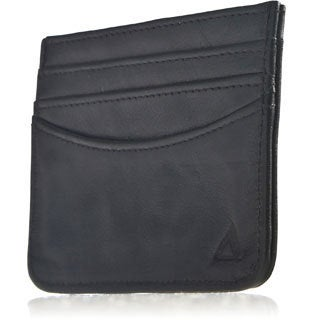 Allett RFID Security Black Leather Card Case