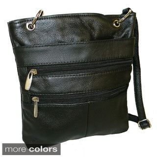 Hollywood Tag Leather Messenger Bag Tote