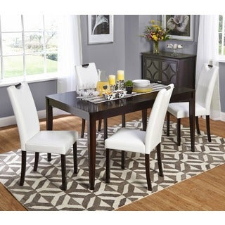 Simple Living 5-piece White Tilo Dining Set