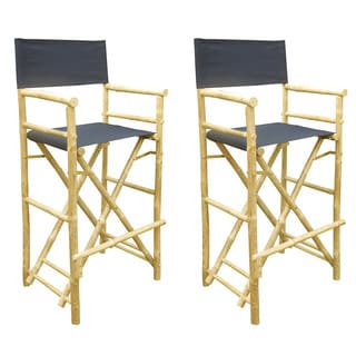 PHAT TOMMY FOLDABLE TALL DIRECTORS CHAIR SET (SET OF 2)