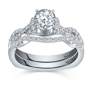 Valina 14k White Gold Round-cut 7/8ct TDW White Diamond Bridal Set Ring (F-G, SI1-SI2)