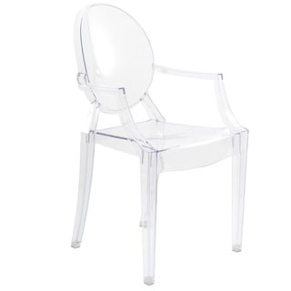 Burton Ghost Style Clear Dining Armchair (Set of 2)