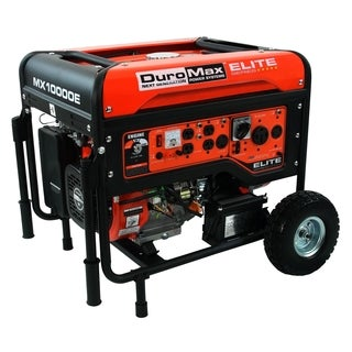 DuroMax Elite 10,000-watt 16.0 Hp Gas Generator with Electric Start and Wheel Kit