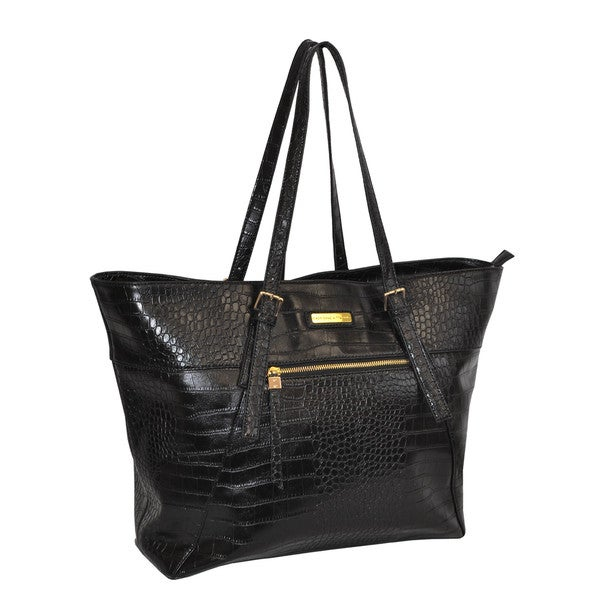 Adrienne Vittadini Luxurious 18-inch Laptop Tote Bag