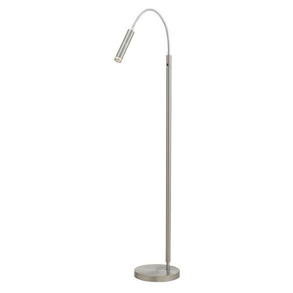 Eos 1-light LED Floor Lamp in Satin Steel