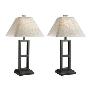 Signature Design by Ashley Deidra Black Table Lamps (Set of 2)