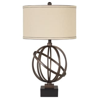 Signature Design by Ashley Shadell Metal Round Base Table Lamps (Set of 2)
