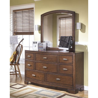 Signature Design by Ashley Alea Medium Brown Dresser and Mirror