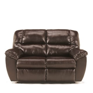 Signature Design by Ashley Rouge DuraBlend Mahogany Power Reclining Loveseat
