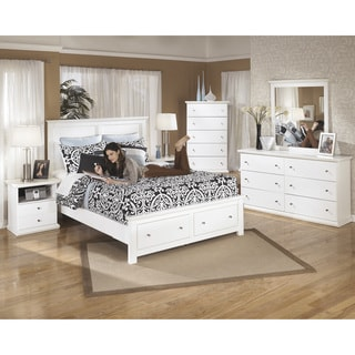 Signature Design by Ashley Bostwick Shoals White Queen Platform Storage Bed